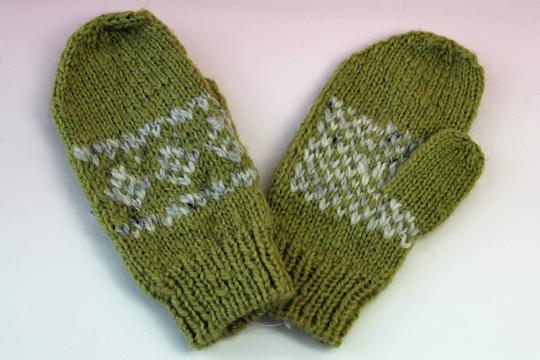 手編み手袋