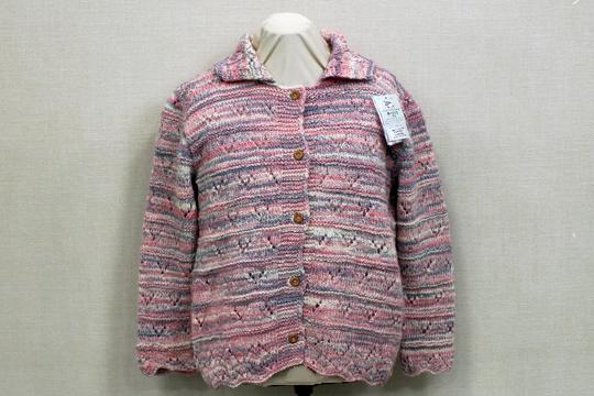 手編みカーディガン