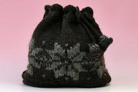 手編みネック帽